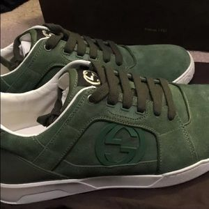 Gucci suede sneakers